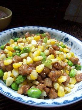 肉末玉米毛豆
