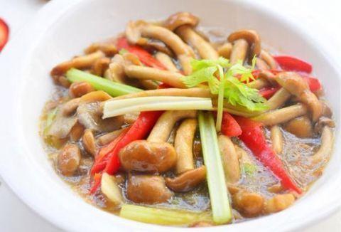 火腿滑菇汤