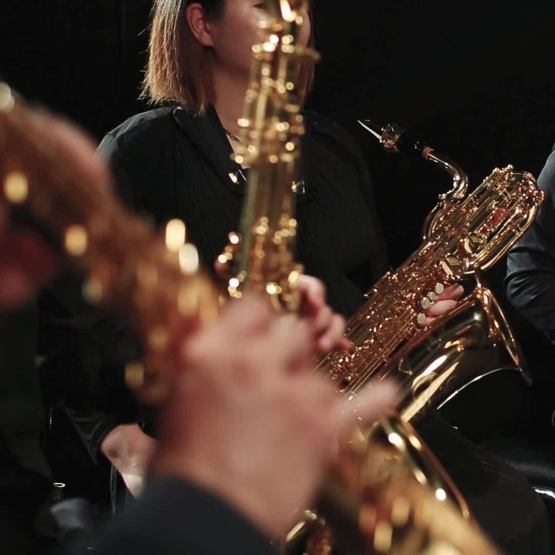萨克斯四重奏《梁祝》Eb调,简谱、五线谱、参考音频 适合高音,中音,次中音,上低音萨克斯组合