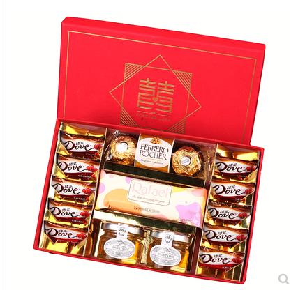 结婚回礼喜糖盒定制创意伴手礼喜糖礼盒装婚礼套装盒子成品含糖