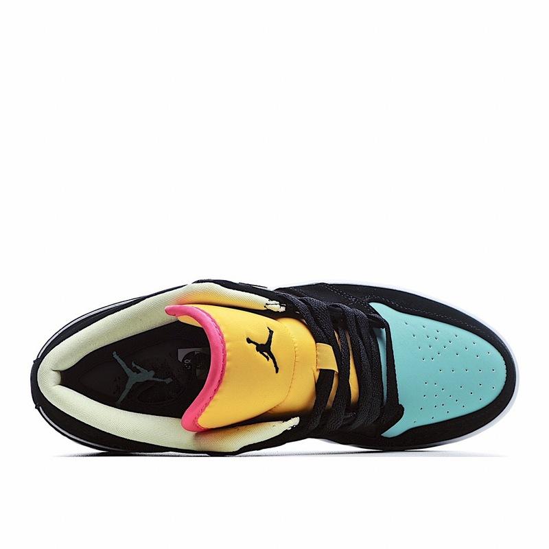 独家实拍✨耐克 Nike Air Jordan 1 Low AJ1 乔1 低帮潮流缓震运动休闲板鞋。AJ1 低帮 黑黄蓝色 拼接 拼色 内置缓震气垫 原鞋开模 拒绝公底9 购置公司同步原材料 原汁原味 忠于原版