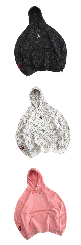 CLOT × AIR JORDAN 乔丹陈冠希同款联名银线满印腾图连帽卫衣