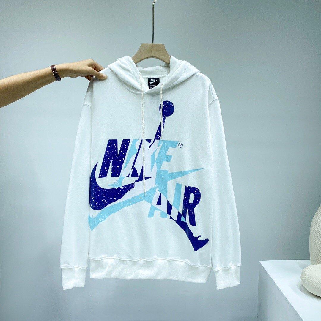 【AJ X Nike耐克✔飞人泼墨冰淇淋清爽配色宽松百搭连帽卫衣】  小红书强烈推荐