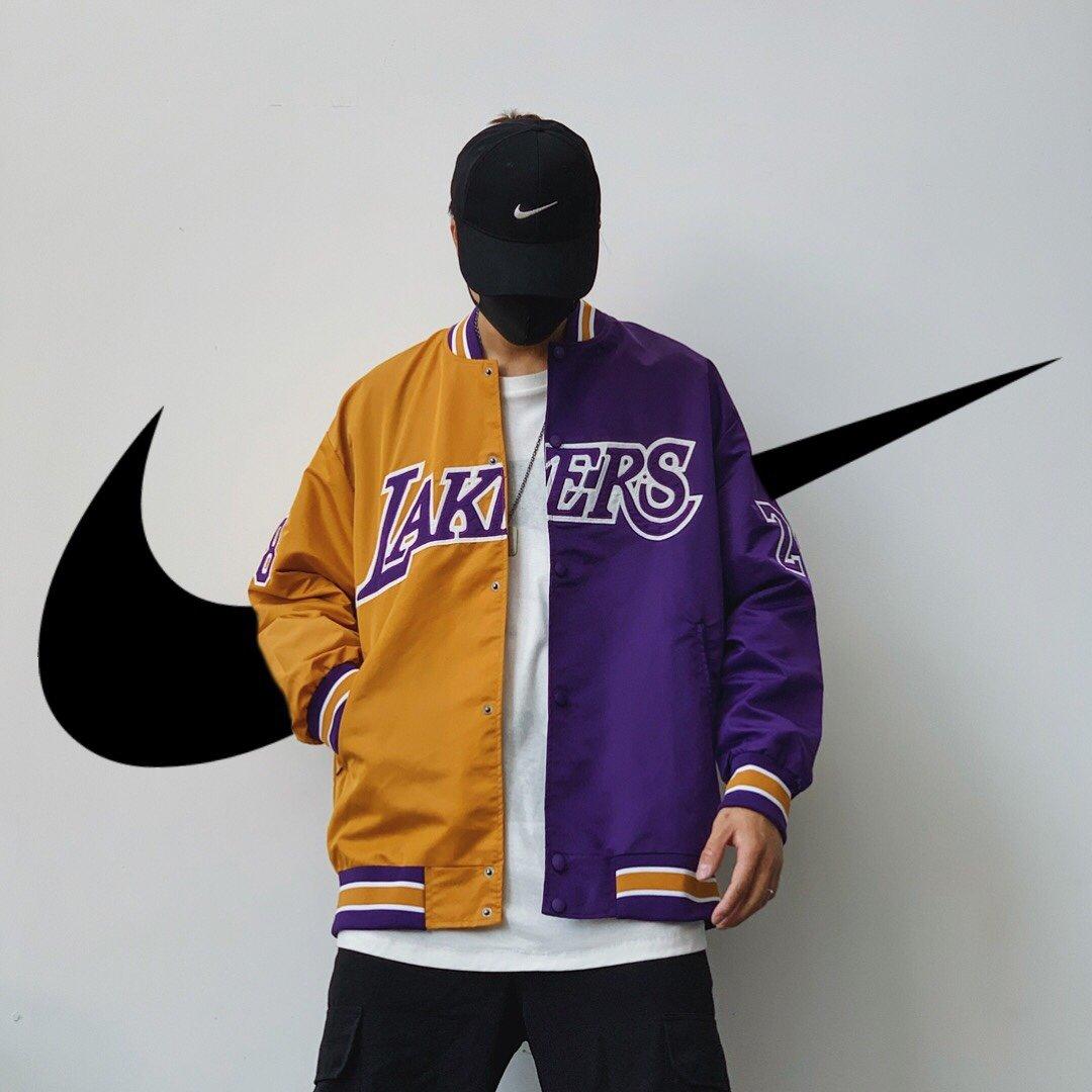 湖人紫金黑曼巴棒球服.  可以上淘宝 秋装上新2020新型科技运动尼龙面料