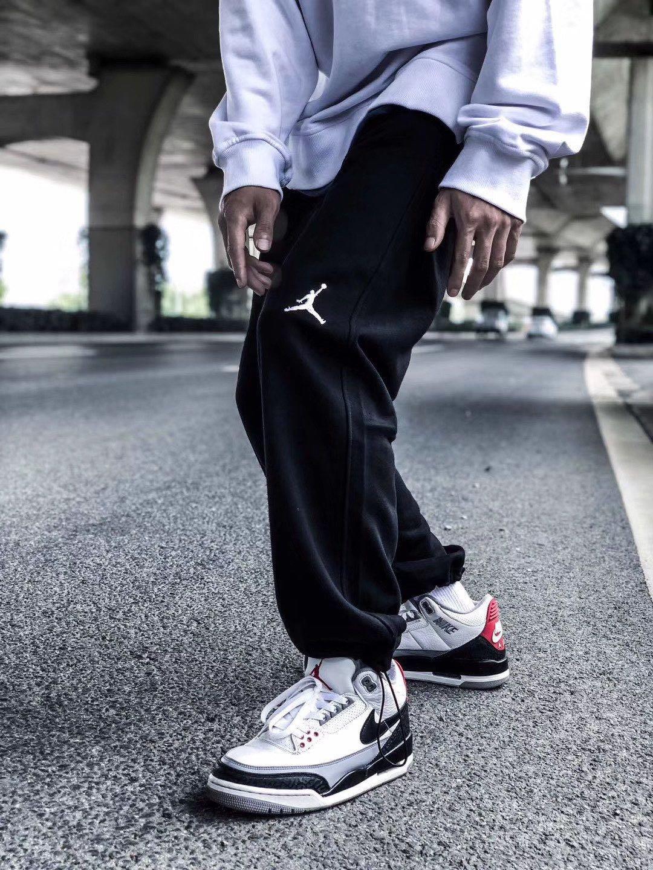 上新 余文乐同款AJ5 爆裂纹情侣束腿裤 超级经典的款式