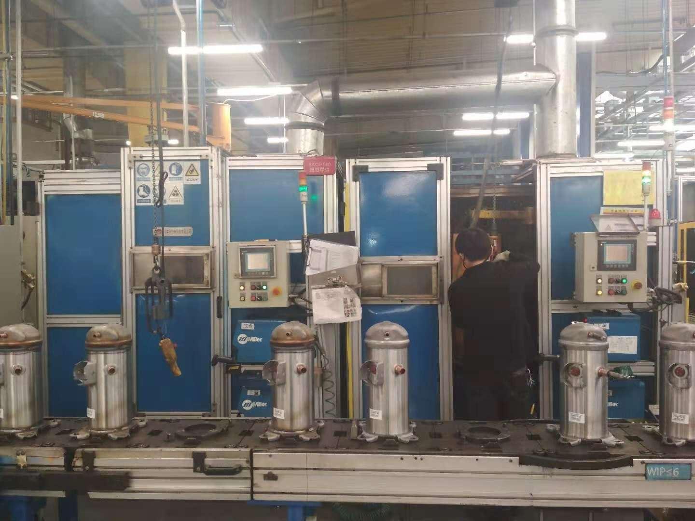 大型空調壓縮機非標焊接生產線