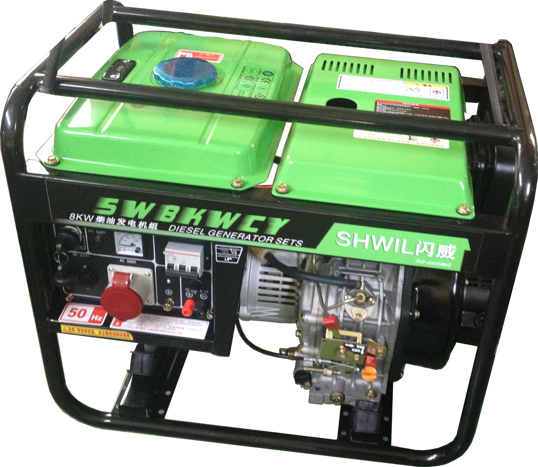 8KW柴油发电机 三相电启动