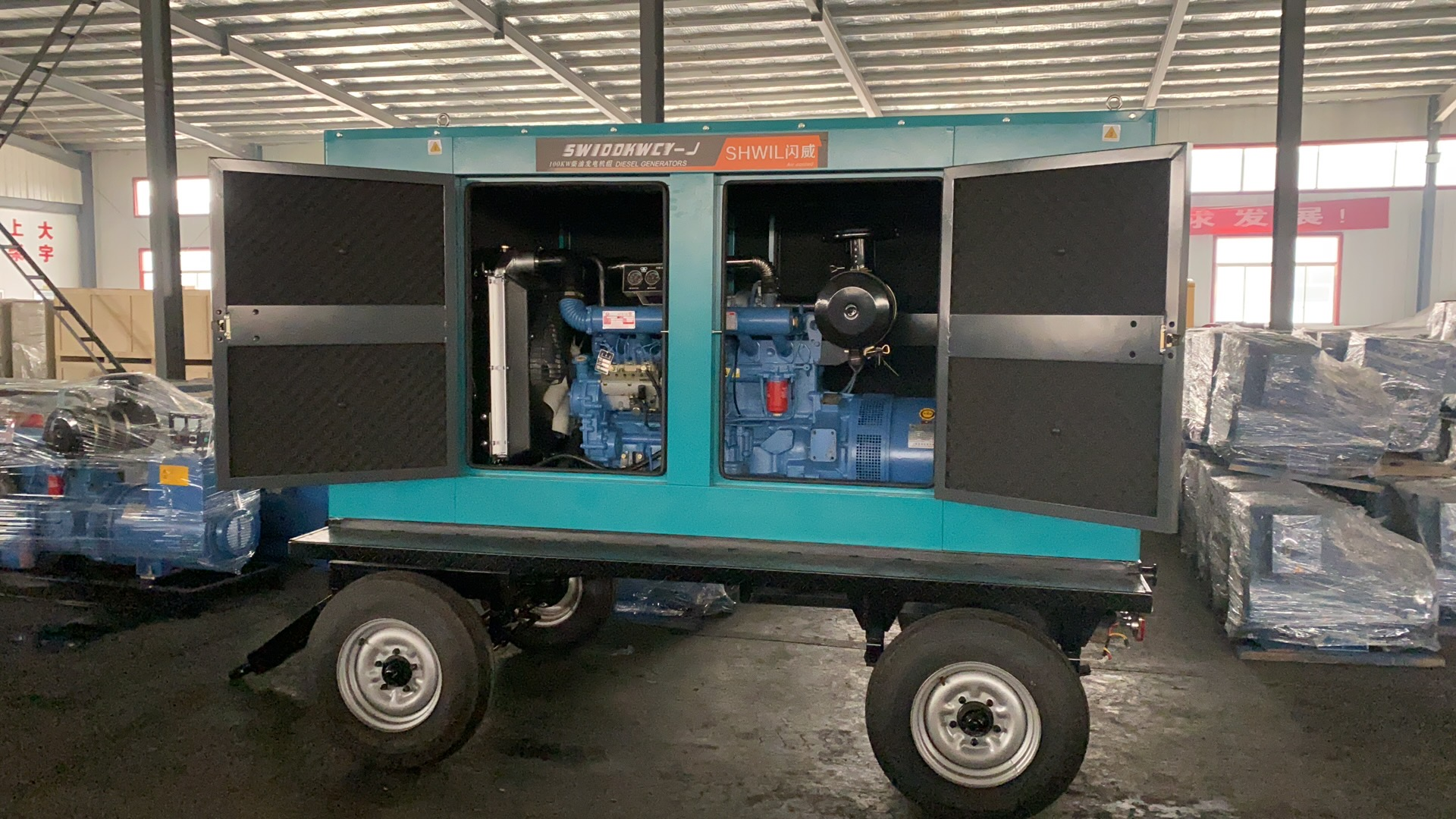 100KW柴油发电机 静音 全自动 拖车