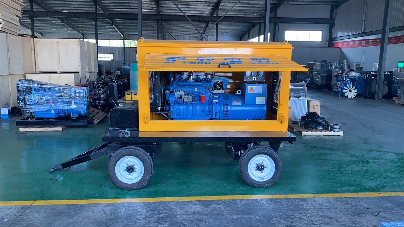 50KW柴油发电机 静音 全自动 拖车