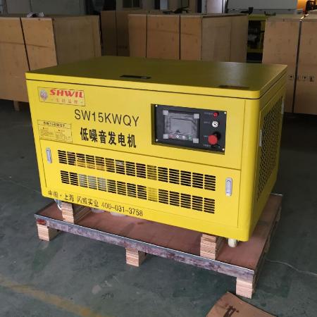 15KW汽油发电机 静音移动式
