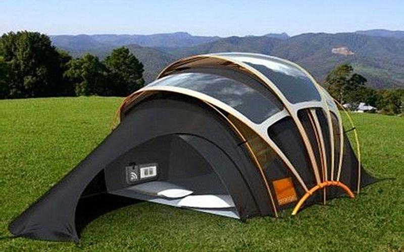 Outdoor tent bending