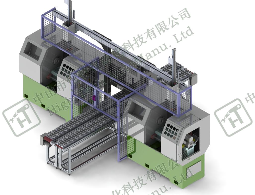 多车床复合加工自动上下料机器臂