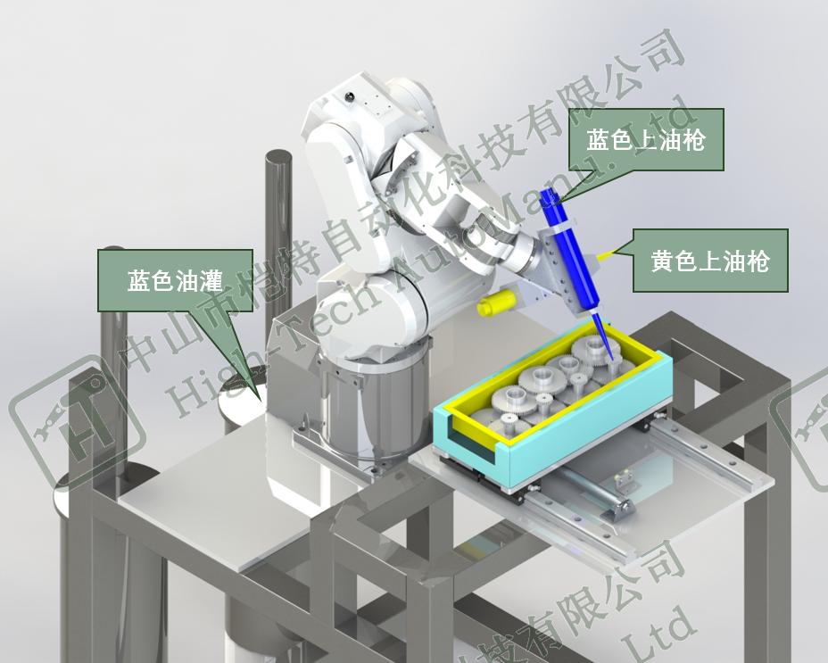 机器人自动涂油设备