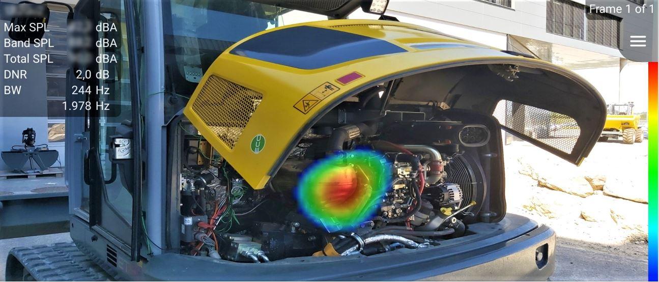 通过给发动机舱主要噪声定位,帮助实行有效隔声手段,从而降低司机噪声暴露。