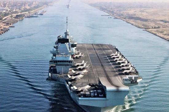 英媒声称有人伪造西方舰船位置信息 女王号航母中招