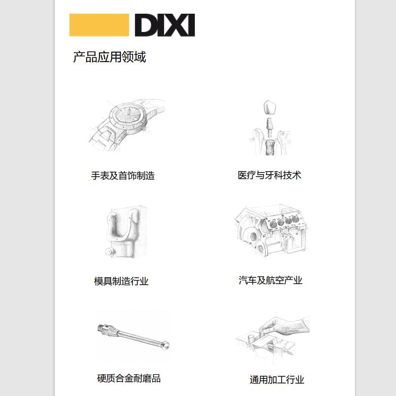 DIXI产品应用领域