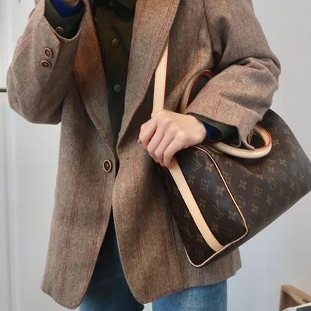 Louis Vuitton/路易威登LV SPEEDY 30老花手提挎女包枕头包25