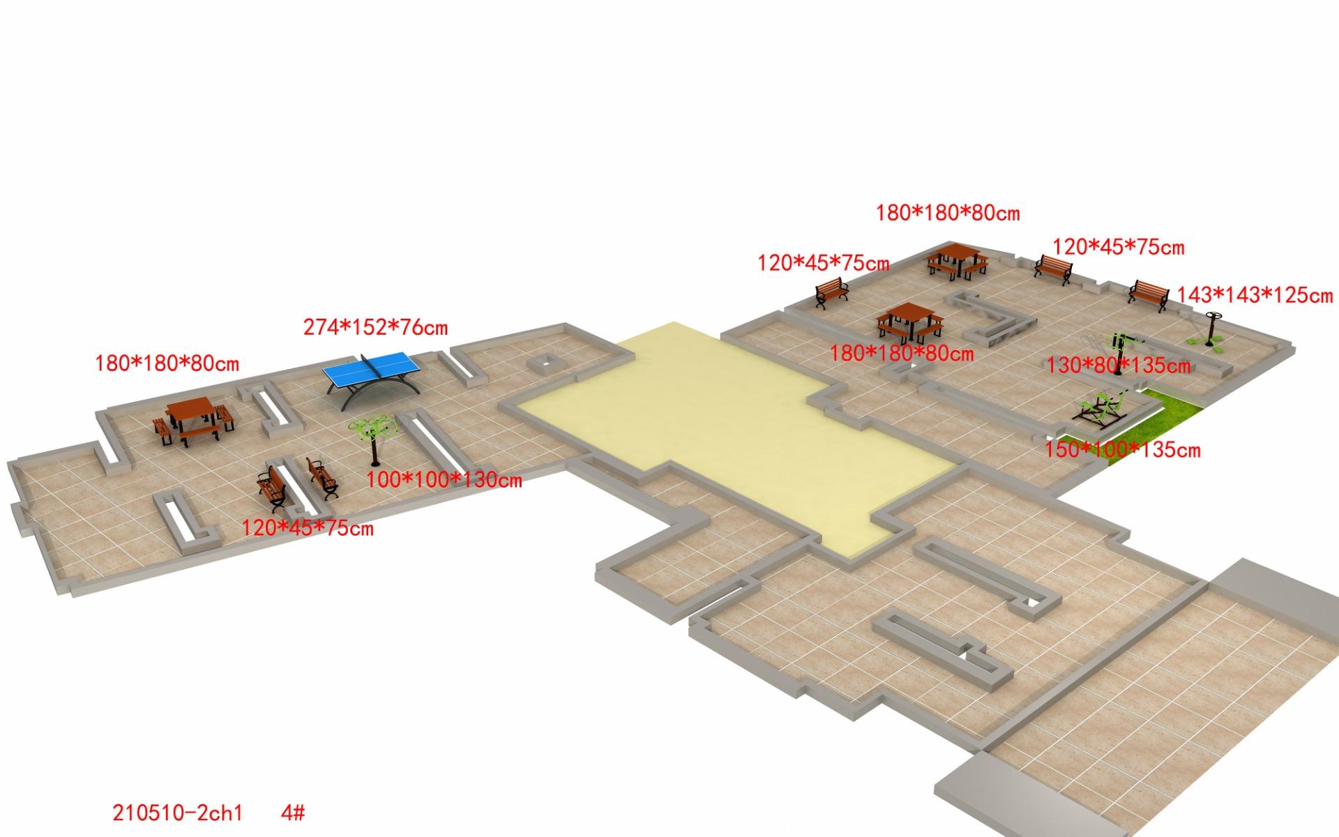 室外健身器材区域的设计4