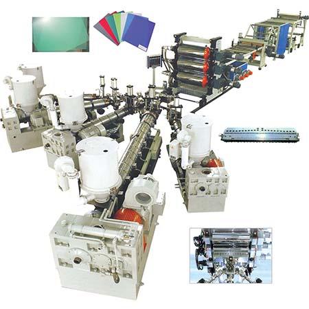 Линия для производства однослойных и многослойных пленок, листов PP / PE / PS / ABS / PBT / EVAOH