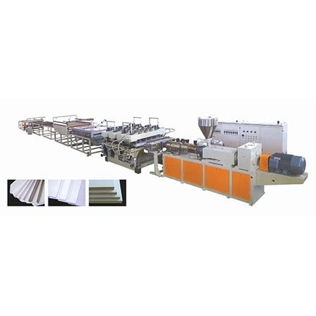 Экструзионные линии для производства - вспененных жестких плит ПВХ, - и дерево-пластиковых вспененных досок на основе ПВХ.