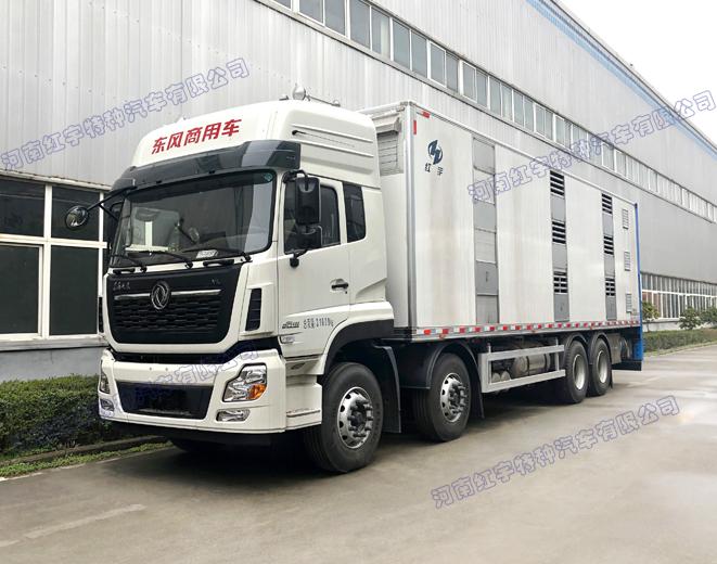 东风天龙VL 9.6米恒温畜禽运输车