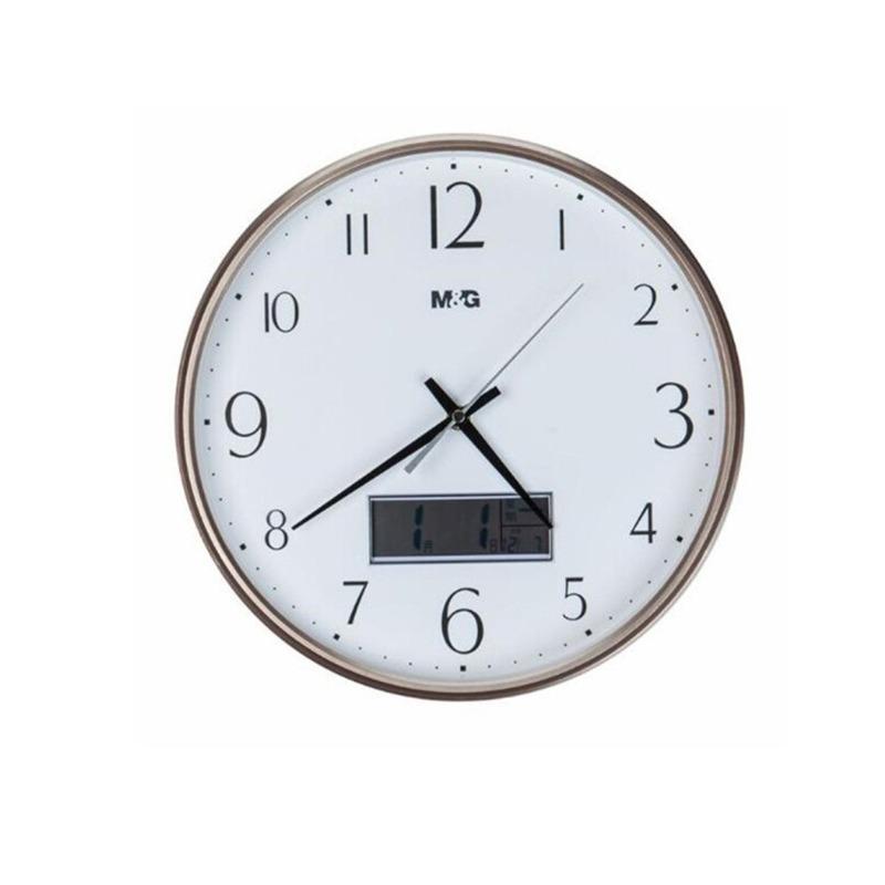 晨光圆形挂钟 带日期13英寸