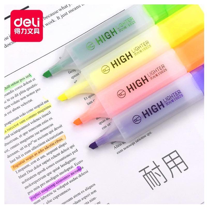 得力(deli) 彩色荧光笔 S628(6色/袋)