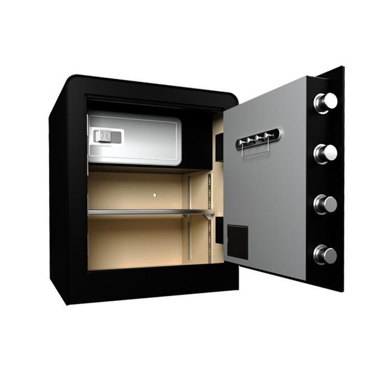 得力小型电子密码保管箱 3643S 45mm高
