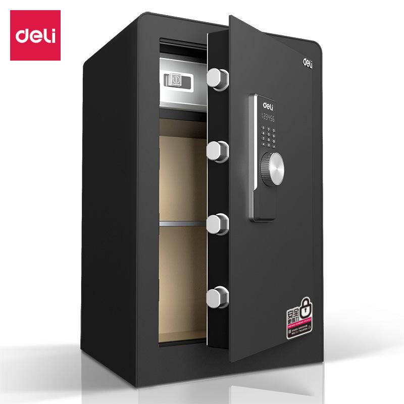 得力(deli)电子密码保险箱  3646s 80cm 黑 364系列