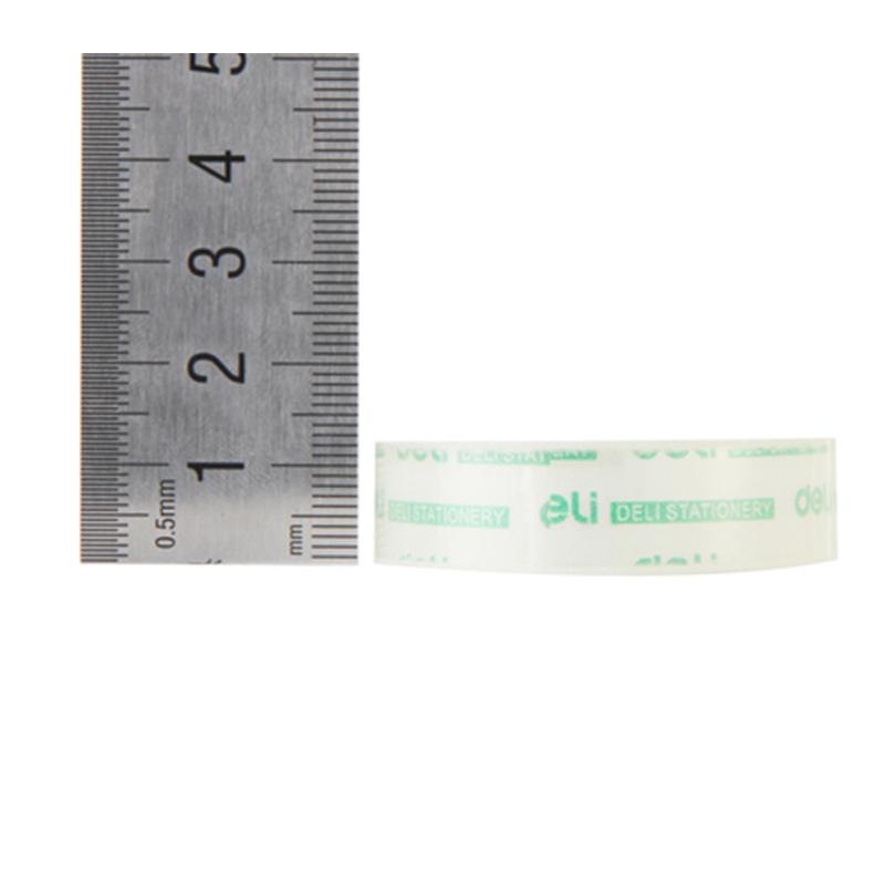 得力/deli 30013透明玻璃胶带 12mm*18y