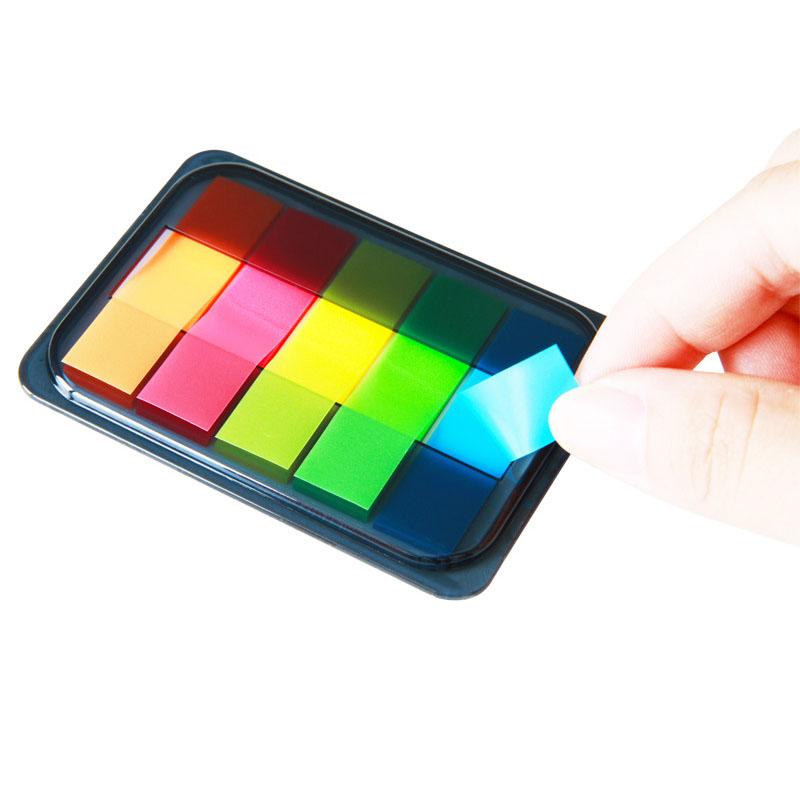 得力荧光膜指示标签 9060