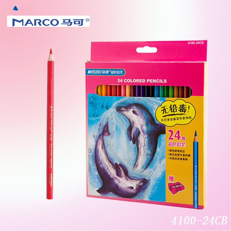 马可彩色铅笔 4100 24色