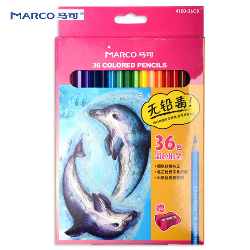 马可彩色铅笔 4100 36色