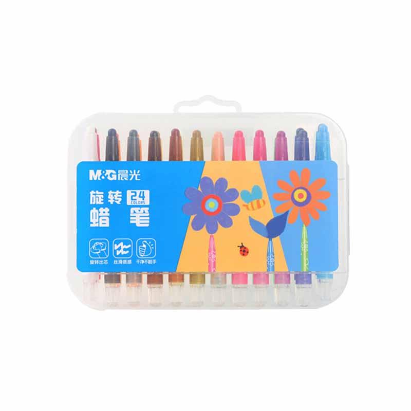 晨光旋转蜡笔  24色/盒