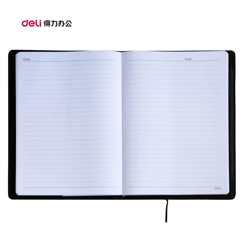 得力皮面笔记本 B5