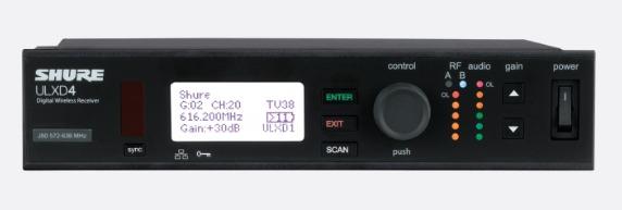 ULXD4单通道数字无线接收机