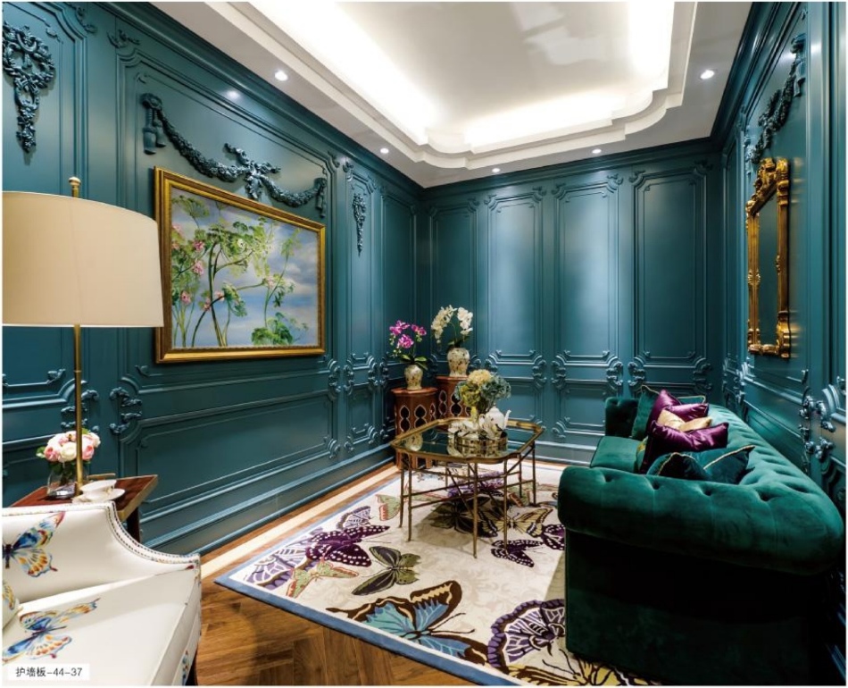 法式浪漫风格案例一44-37/45-38/39  格兰伯爵法式风格全屋定制整装 测量-设计-生产-安装