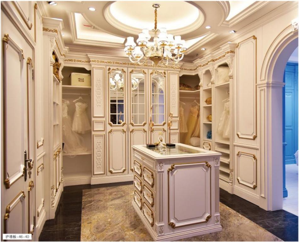 法式浪漫风格案例-46-40/47-41/42   格兰伯爵全房定制 高端实木整装