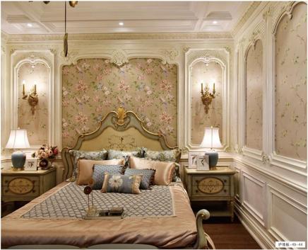 法式浪漫风格案例-48-43/49-44   格兰伯爵高端整装全房定制  整体橱柜 定制衣柜 书柜 酒柜