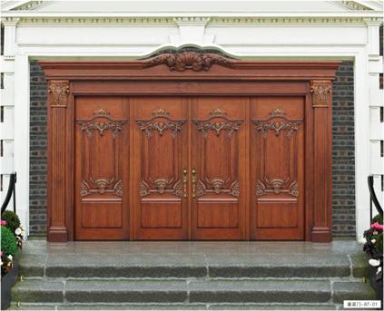 格兰伯爵全屋定制-木门系列  中式 欧式 实木套装门 别墅门 卧室门 木门