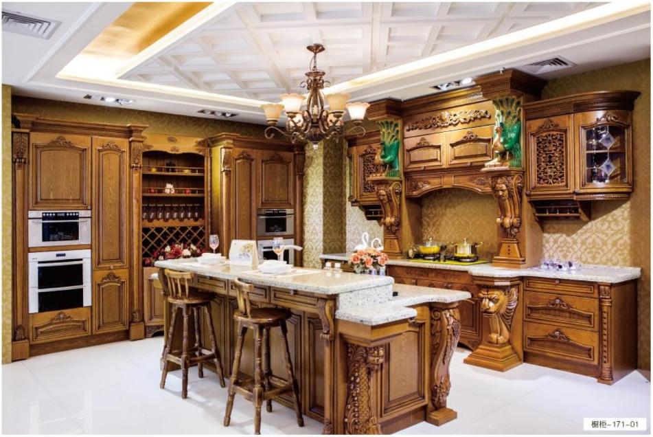 格兰伯爵整体橱柜   全实木橱柜门板  各种风格整体橱柜 开放式别墅厨房高端橱柜