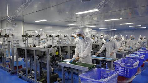 碧康口罩高速生产线
