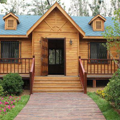 建造好的木屋别墅选择合适的木材