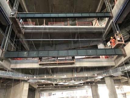 商場13米跨度扶梯井道整改工程1