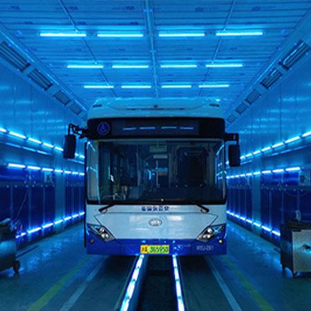 公交车紫外线消毒灯车间