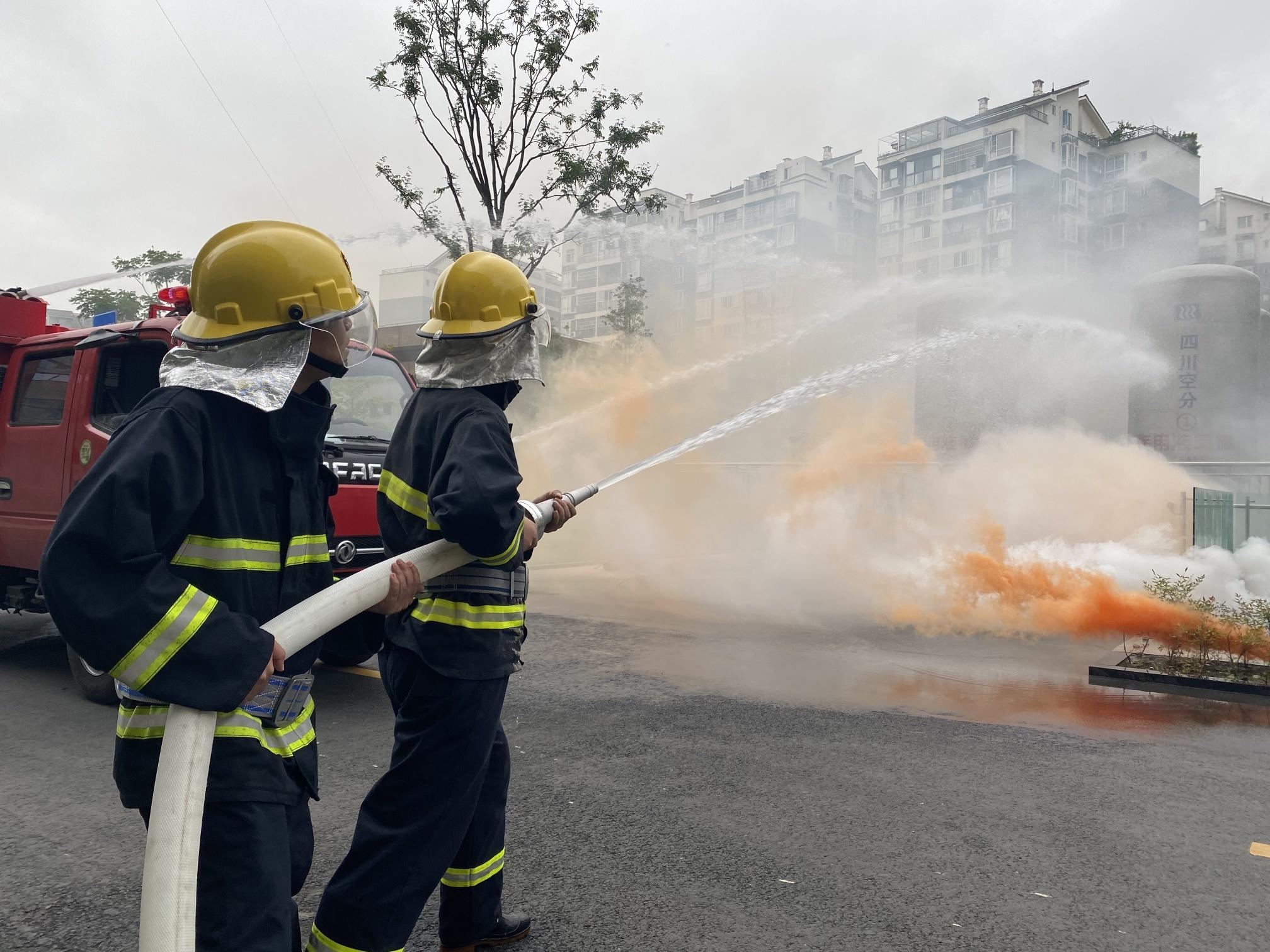 成都市双流区卫健系统开展 2020年消防应急演练