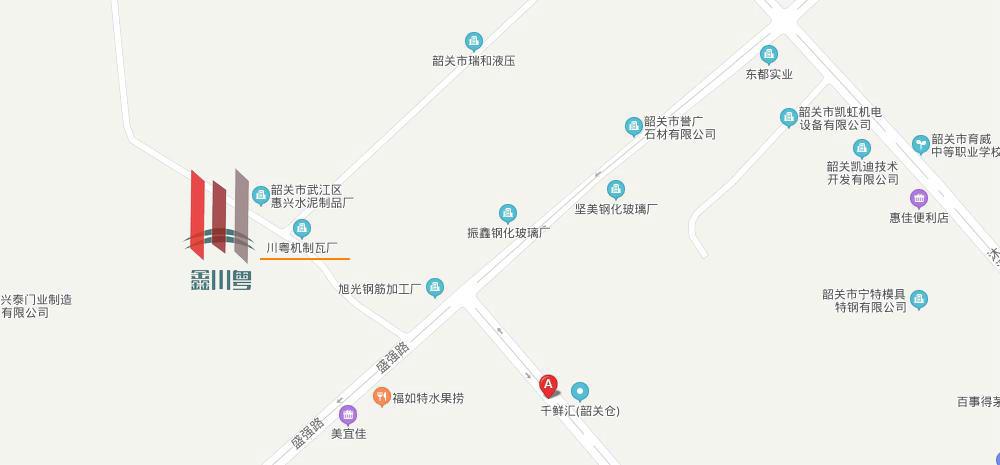 鑫川粤树脂瓦公司地理地图
