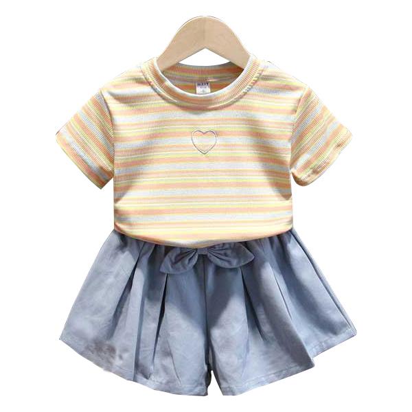 女童套装2020夏装新款童装小童宝宝洋气印花两件套潮