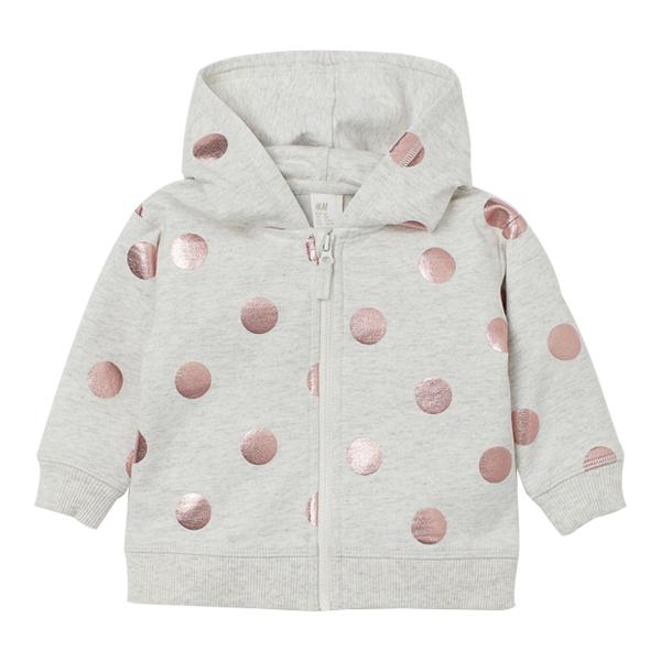 童装女婴幼童宝宝卫衣 秋冬款 纯棉洋气连帽外套
