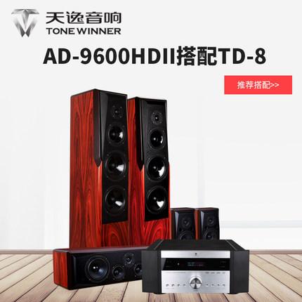 天逸 AD-9600HDII功放 + TD-8音箱 5.0发烧影院套装